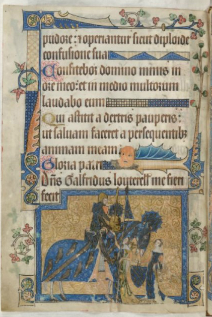London, British Library, Luttrell Psalter, fol. 202v